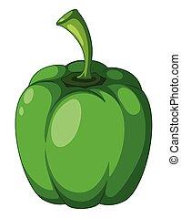 capsicum, branca, experiência verde