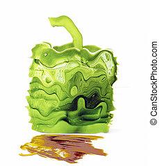 capsicum - fantasy image of square capsicum