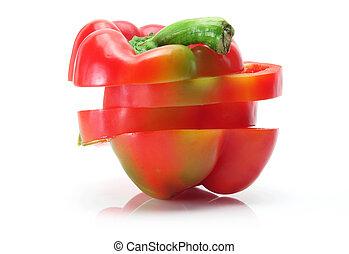 capsicum, vermelho