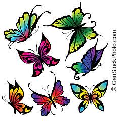 capstrzyk, barwa, komplet, motyle