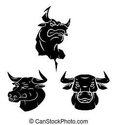 capstrzyk, głowa, byk