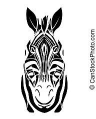 capstrzyk, głowa, zebra