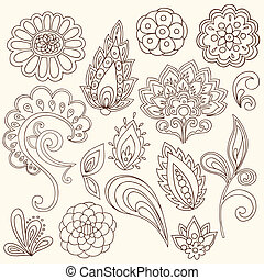 capstrzyk, paisley, wektor, henna, doodles