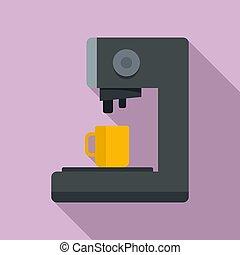 Capsule coffee machine icon, flat style