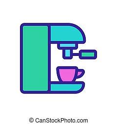 capsule coffee maker icon vector outline illustration