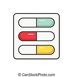 capsule  flat color icon