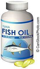 Capsule of Tuna Fish Oil