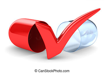 capsule on white background. Isolated 3D illustration