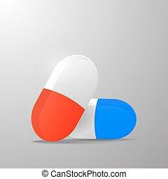 capsule, ontwerp, pil, basis