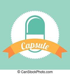 capsule, pictogram
