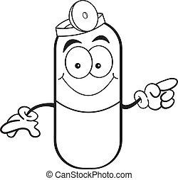capsule, pil, wijzende