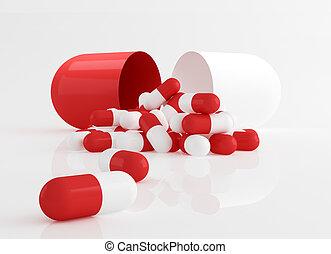 Capsule pills, dosage