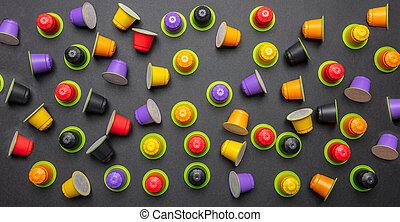 capsules, café, eco, express, compostable, couleur,...