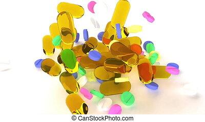 capsules, publicité, healthcare, monde médical, europe, soin, fish, bulle, huile, pilules, cosmétique, peau