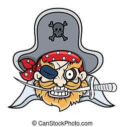 Captain Black Pirate - Vector