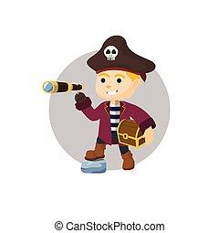 Captain boy get the treasure