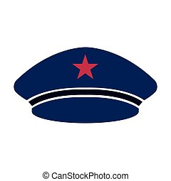 Captain hat icon - Isolated captain hat icon. Vector...