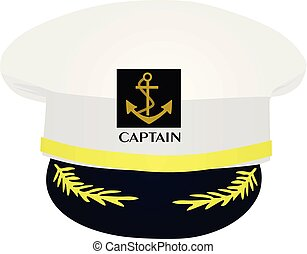 Captain hat. vector illustration