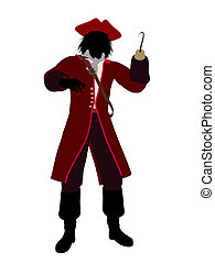Captain Hook Silhouette Illustration - Captain hook...