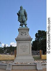 Captain John Smith Statue in Jamestown, Virginia