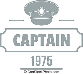 Captain logo, simple gray style