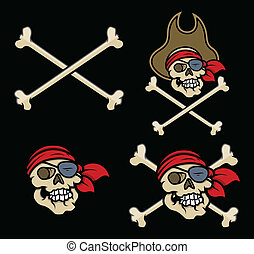 Captain Pirates Skulls - Vector