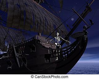 Captain skeleton - 3D render