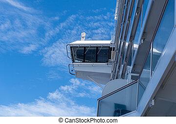 Captains Bridge on a Luxury Cruise Ship