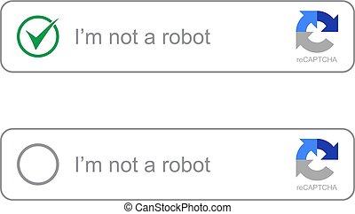 Captcha i am on a robot vector computer code.