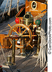 capten position - captens position in an antique wooden...