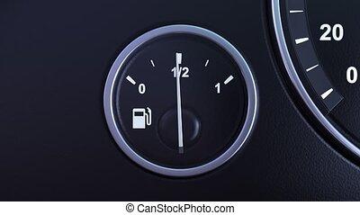 capteur, carburant, zéro, réservoir