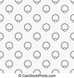 Captive ring seamless pattern. Vector piercing background -...