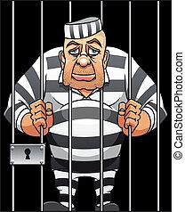 capturé, prisonnier