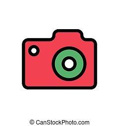 capture flat color icon