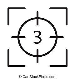 capture glyph flat vector icon