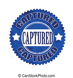 captured stamp - captured grunge stamp with on vector...