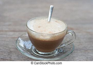capuccino, café caliente