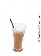 capuccino, café, hielo