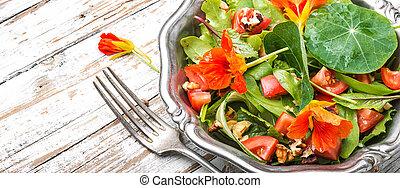 fleurs borage comestible salade capucine t. Black Bedroom Furniture Sets. Home Design Ideas
