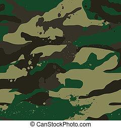 caqui, pattern., selva, camuflaje
