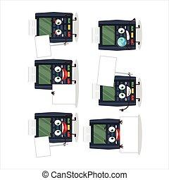 carácter, banco, traer, caricatura, tabla, tarjeta, terminal...