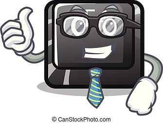 carácter, botón, f4, aislado, hombre de negocios
