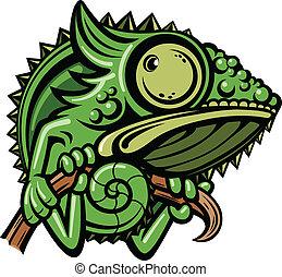 carácter, caricatura, camaleón