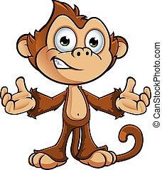 carácter, descarado, mono