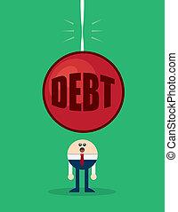 carácter, deuda, el asomar