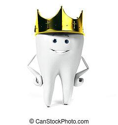 carácter, diente
