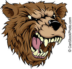 carácter, oso, mascota
