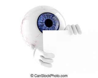 carácter, pelota, ojo
