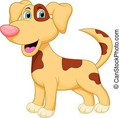carácter, perro, caricatura