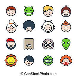caráteres, social